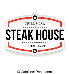 Steak House Restaurant vintage sign