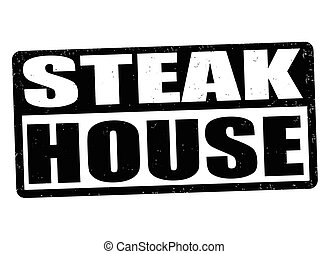 Steak house sign or stamp