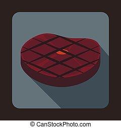 Steak Icon, Flat style