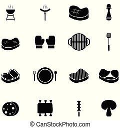 steak icon set