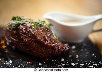 Steak. Inner fillet - The thick edge of the inner fillet. ...