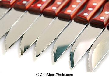 Steak knives row