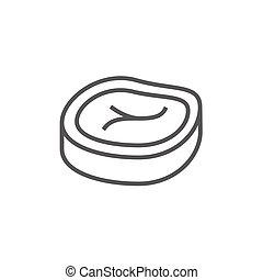 Steak line icon.