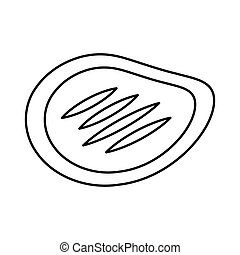 steak meat isolated icon