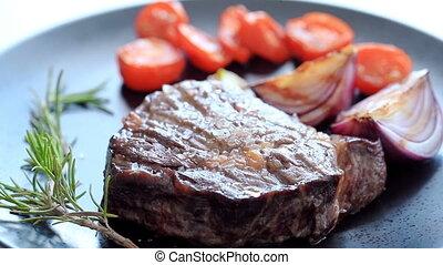 Steak on a dish