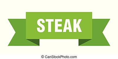 steak ribbon. steak isolated sign. steak banner