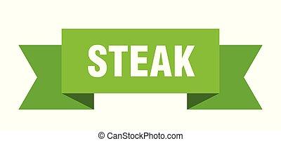 steak ribbon. steak isolated sign. steak banner