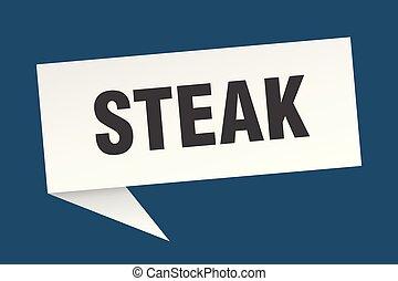 steak speech bubble. steak sign. steak banner