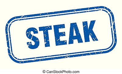 steak stamp. steak square grunge sign. steak