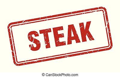 steak stamp. steak square grunge sign. steak
