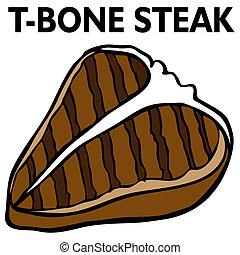 steak, t-knochen
