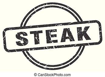 steak vintage stamp. steak sign