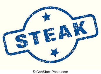 steak vintage stamp. steak sign