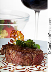 steak,asparagus,green,tip,potato,wine,red,salad,glass,sauce,spiderweb,gravy ,closeup,vegetable,brown,gourmet,delicious ,beef ,food ,white background ,meat ,meal ,grilled ,dinner ,garnish ,plate ,cuisi