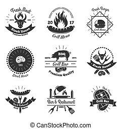 Steakhouse Vintage Emblems Set