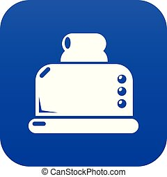 Steal toaster icon blue vector