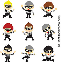 steal vector cartoon on white background