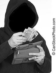 Stealing Money - Thief has a stolen wallet