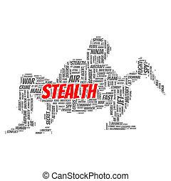 stealth, begrepp, ord, moln