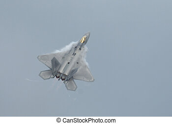 F-22 Raptor climbing - Stealth jet fighter F-22 Raptor ...