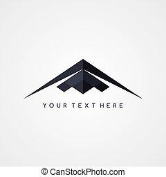 stealth logo aircraft airplane logotype theme vector art