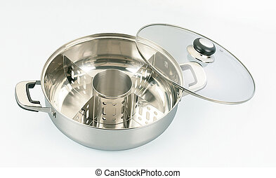 steam boat pot - empty cooking with cover for steamboat only