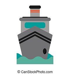 steam boat ship transport vector illustration eps 10