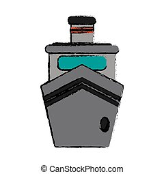 steam boat ship transport sketch vector illustration eps 10