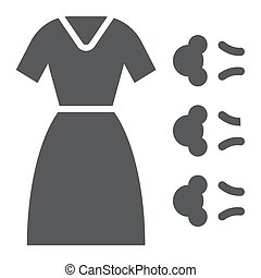 Steam cleaning glyph icon, laundry and service, clothes sign, vector graphics, a solid pattern on a white background.