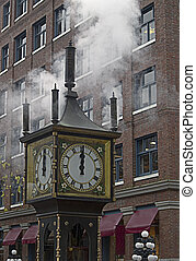 Steam Clock - Antique steam clock in Gastown, British...