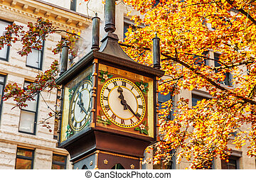 Steam Clock in Gastown District, Vancouver, BC British Columbia, Canada