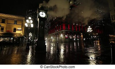 Steam Clock in Gastown in Vancouver BC British Columbia...