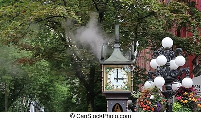 Steam Clock in Gastown Vancouver BC - Steam Clock Chiming...