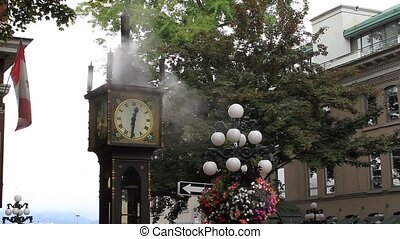 Steam Clock in Historic Gastown in Vancouver bc British...