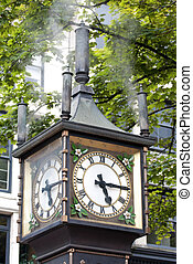Steam clock in the streets of Vancouver-Canada.