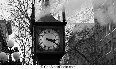Steam clock. - Steam powered clock. Attraction in downtown...