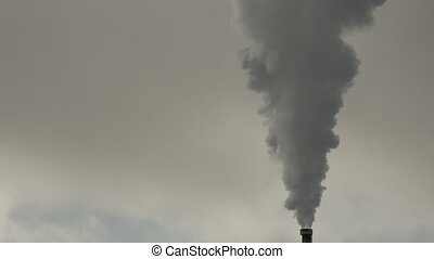 Steam close up Iceland - Steam close up from chimney of a...