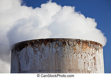 Steam Coming Out Of a Chimney