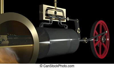 Steam Engine Animation HD - Animation of a steam engine....