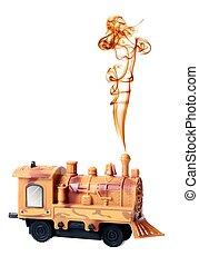 Steam Engine Locomotive Toy with Smoke