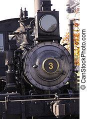 Steam engine - Old steam engine in Greenfield village...