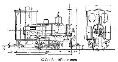 steam-engine, plano