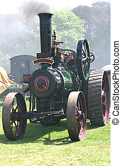 steam engine at a rally