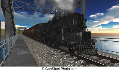 steam locomotive  - image of steam locomotive