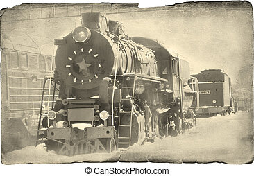 steam locomotive Imitation old a photo