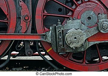 Steam locomotive - Intimate part of a steam locomotive,...