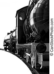 steam locomotive isolated over white