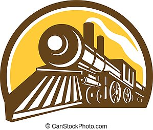 steam-locomotive-low-angle-half-CIRC - Icon style...
