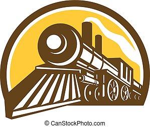 steam-locomotive-low-angle-half-CIRC - Icon style...