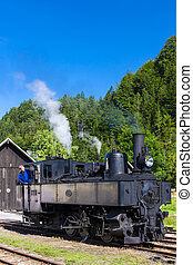 steam locomotive, Lunz am See, Lower Austria, Austria